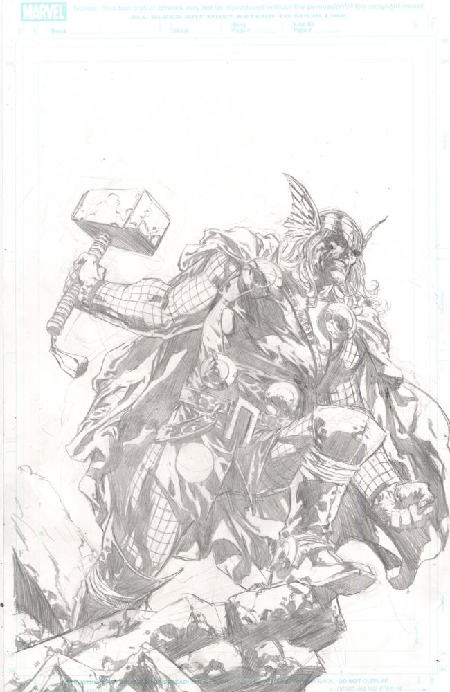 david finch thor defining moments giant size variant cover pencils comic art community gallery of comic art