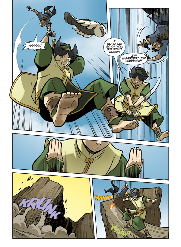 Toph takes Sokka for a fall - Comic Art Community GALLERY ...