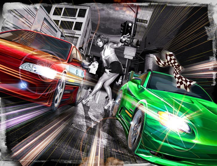 2 Fast 2 Furious Game Artwork