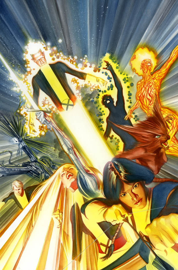 new mutants 1 variant cover 2009 comic art