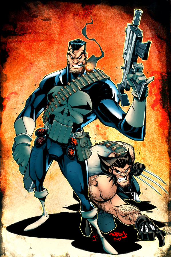 Punisher Wolverine Comic Art Community Gallery Of Comic Art
