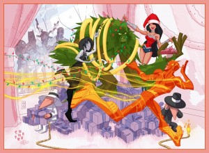 "DC Comics 2011 Holiday Card by Sean ""Cheeks"" Galloway"