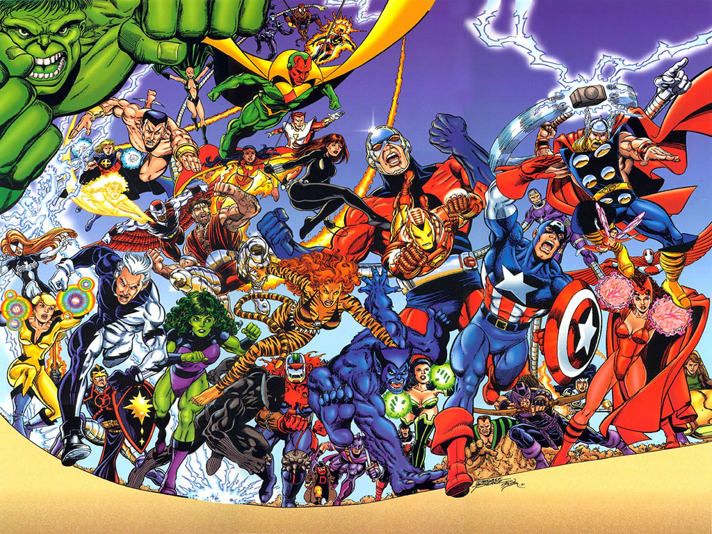 Most Inspiring Wallpaper Marvel Bomb - Avengers-by-George-Perez  Pic_222771.jpg