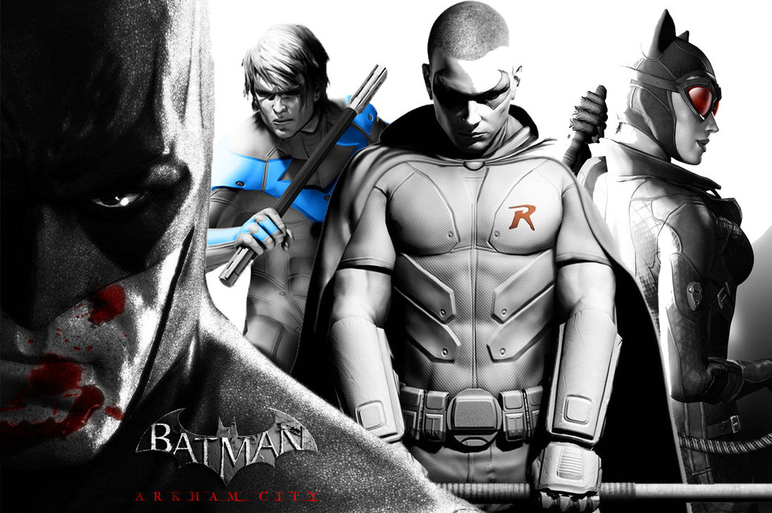 Batman Arkham City Nightwing And Robin Batman Arkham Heroes