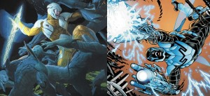 X-O Manowar vs Blue Beetle