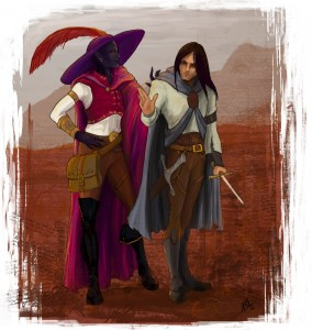 Jarlaxle and Artemis by Amélie S. Lebel