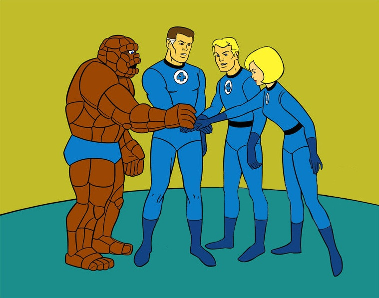 fantastic four cartoon: