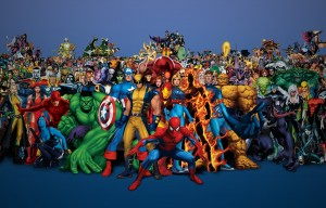 Marvel Comics collage