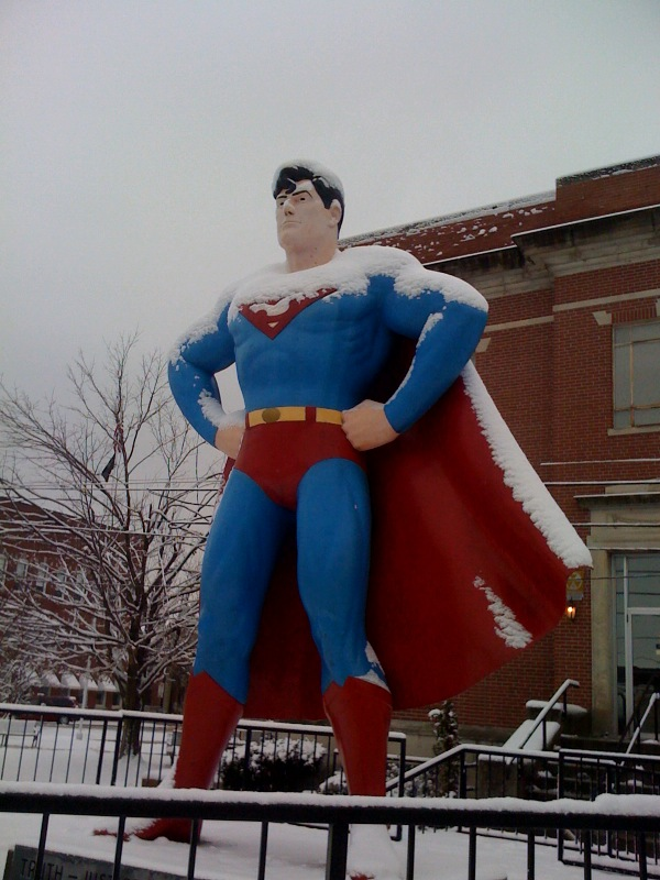 Superman in snow