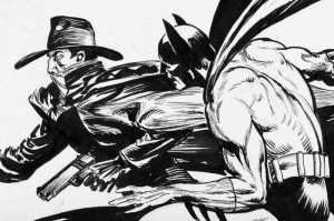 The Shadow and Batman by Kaluta