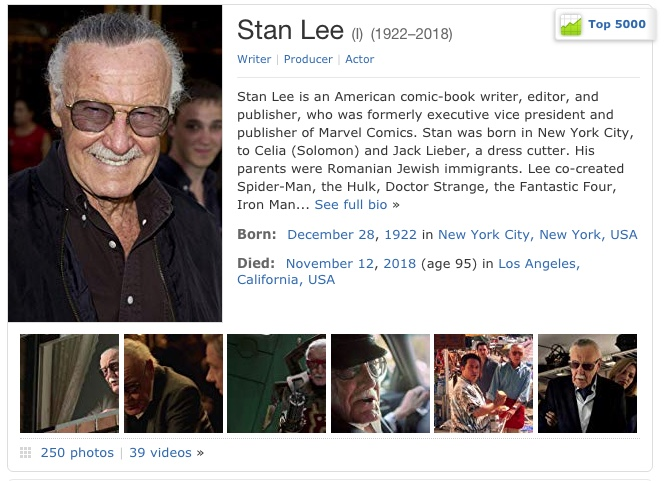 Stan Lee on IMDB