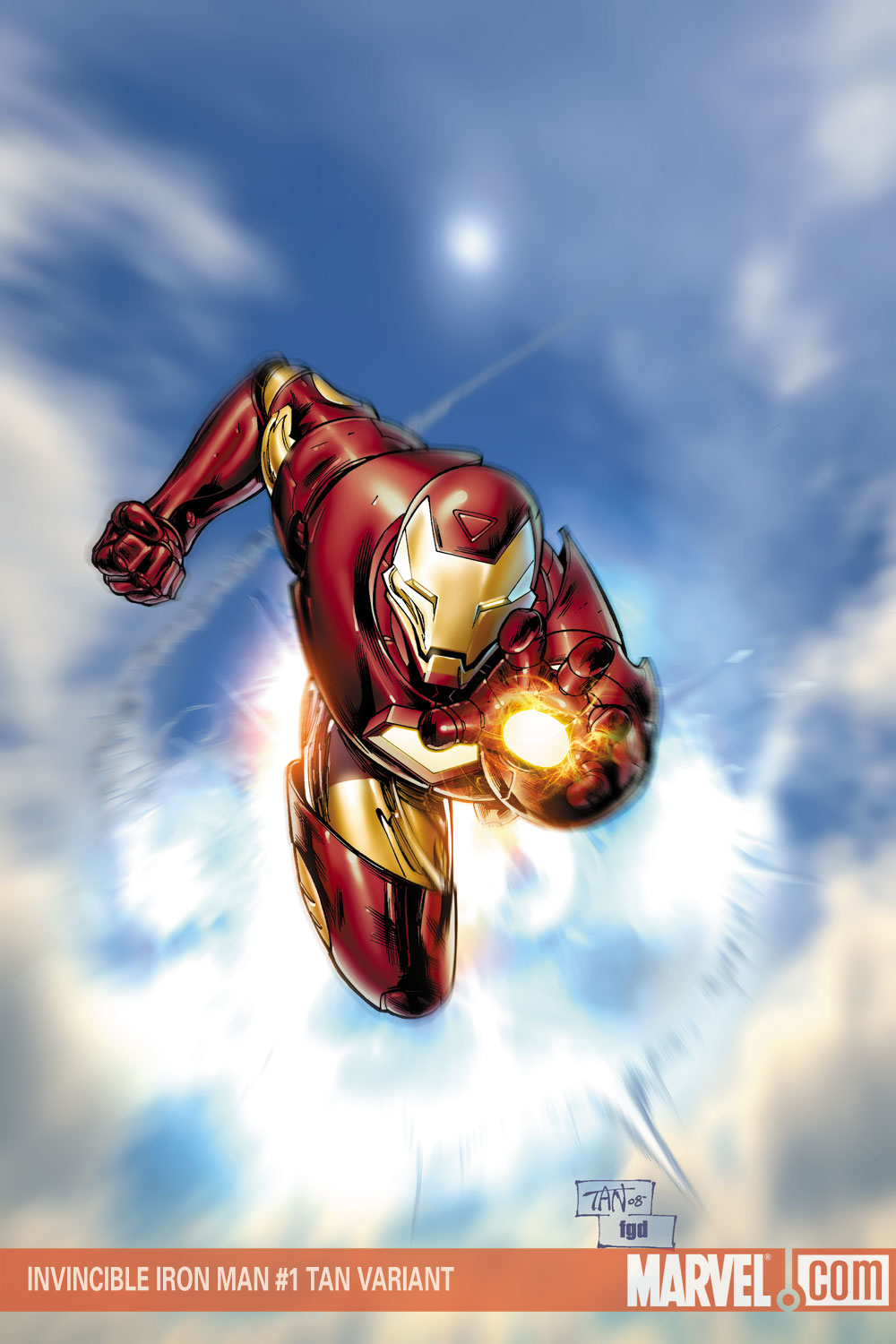 invincible iron man 1 incentive variant cover  comic
