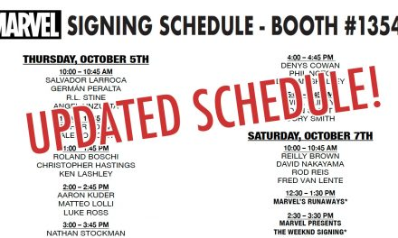 Updated NYCC '17 Marvel Panel, Booth, and Signing Schedules – Oct 7, 2017 1:57am